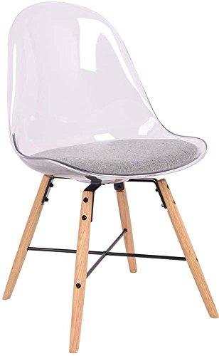 Lot-de-2-Chaise-polycarbonate-transparent-et-tissu-gris-Plexy-Lot-de-2-Chaise-polycarbonate-transparent-et-tissu-gris-Plexy