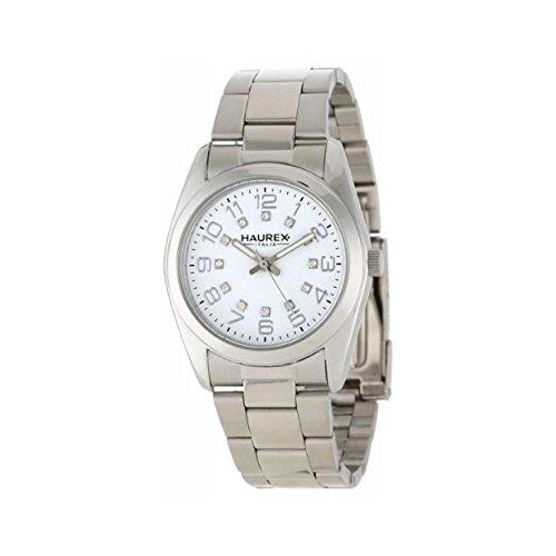 Orologio Haurex NARCISO 2A388DWW Al quarzo (batteria) Acciaio Quandrante Bianco Cinturino Acciaio