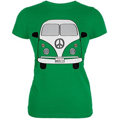 Halloween Travel Bus Kostüm Camper Fernweh Junioren weichen T Shirt irischen Grünen (Halloween Kostüme Ign)