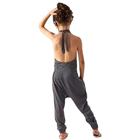 Kid Jumpsuits Strampler Kolylong® (2-7 Jahre alt)Baby Kind Mädchen Sommer Strap Spielanzug Overall Outfits romper Jumpsuit SommerKleidung (150CM (7 Jahre alt), Grau)
