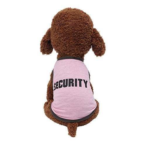 TUDUZ Brief Drucken Hundebekleidung Frühling und Sommer Atmungsaktive T Shirts Haustier Kleidung Hund Katze Bekleidung Hundeshirt Trägerhemd Tops Mode 2019(X-Small,D-Rosa)