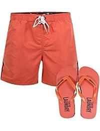 Mens Swim Shorts Mostyn Tokyo Laundry New Summer Beach Board Shorts & Flip Flops
