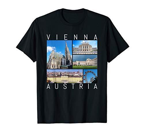 Wien Österreich Souvenir Vienna berühmte Sehenswürdigkeiten T-Shirt