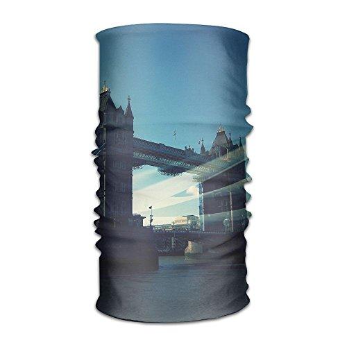 Pengyong Großbritannien London Bridge River City Unisex Fashion schnelltrocknend Mikrofaser Kopfschmuck Outdoor Magic Schal Hals Hals Schal Kapuzen Schal Super Soft Griff