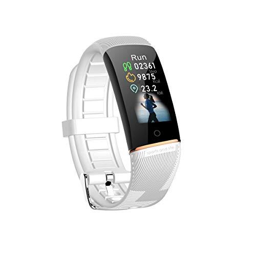Adsvtech Fitness Tracker mit Blutdruckmessung und Pulsmesser Herzfrequenz Schlafüberwachung IP67 Wasserdicht Fitness Armband Aktivitätstracker Schrittzähler Smart Watch Uhr für Damen Herren Weiß