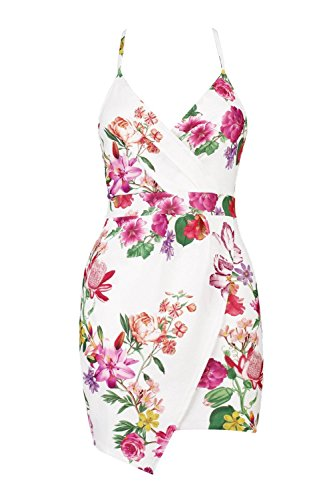 Damen Multi Petite Alice Minikleid Mit Wickelung Und Blumen-print Multi