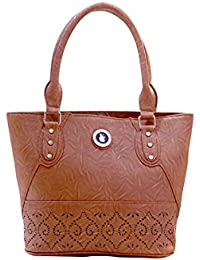 WOMEN BROWN HANDBAG SHOULDER BAG BY REET CREATION