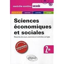 Sciences économiques et sociales 2nde - Résumés de cours, exercices et contrôles corrigés.