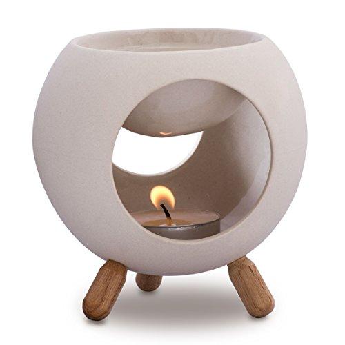 Kaloogo Sabai Scent Keramik Duftlampe rund (Duftlicht) - weiß