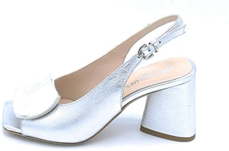 LES VENUES A804 Sandalo Accessorio Pelle Pelle Pelle argentoo Cinturino Tacco Largo 7cm - Taglia Scarpa 40 Coloreee argentoo | Commercio All'ingrosso  6c8793