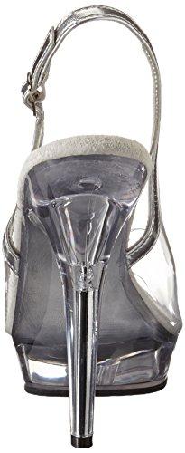 Pleaser Tacchi Alti Lip-150 Silber / Trasparente 37,5