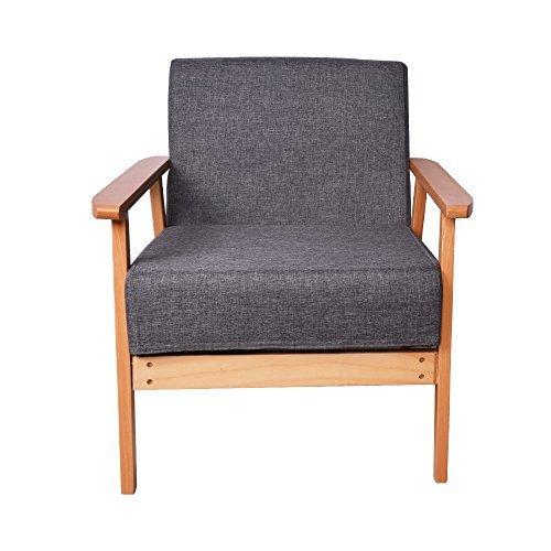 Hollylife grigio tessuto poltrona sedia occasionale divano relax sedile per soggiorno salotto ufficio