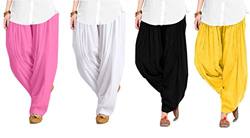 Spangel Fashion Women's Soft Cotton Full Stitched Ready made Patiala Bottom Salwar...