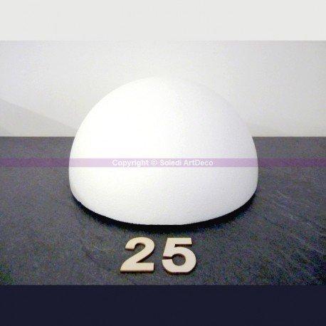 demi-sphre-de-25-cm-de-diamtre-dme-creux-en-polystyrne
