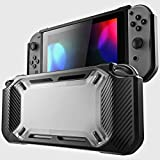 Leoie Video Game Accessories for Nintend Switch Case Rugged Protective Hard Shell Transparent