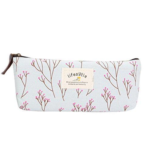 chendongdong-Nueva flor floral estuche para lápices de maquillaje bolsa de herramientas bolsa de almacenamiento pursenew flores lápiz pluma caso cosmético maquillaje bolsa de herramientas bolsa de almacenamiento bolso de mano