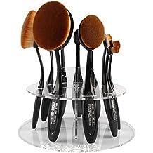 Vovotrade® Ovale 10 foro porta pennelli di trucco Stendino Organizzatore cosmetici Shelf Strumento (Titolare Di Pennelli Di Trucco)