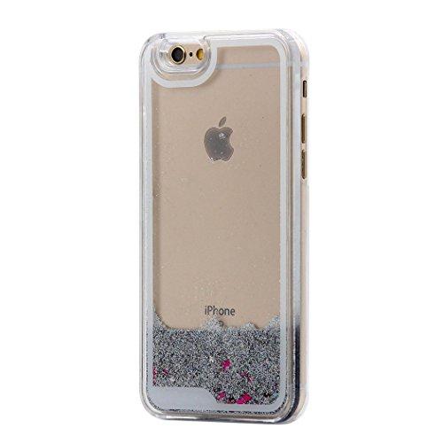 Coque iPhone 5S, Housse iPhone SE, Hamyi Liquide Bling Paillettes Sables Mouvants avec étoiles Rigide Etui pour Apple iPhone 5 et iPhone 5s et iPhone SE (Licorne) étoile d'argent