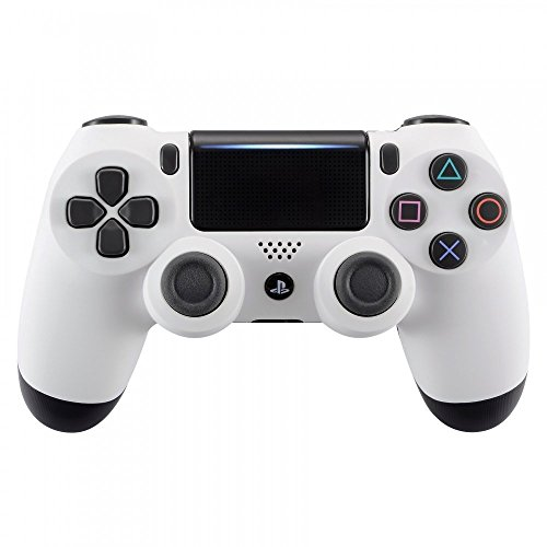 eXtremeRate® Soft Touch Grip Carcasa Frontal de Carcasa Frontal Blanca para Playstation 4 PS4 Slim PS4 Pro Controller (Modelo CUH-ZCT2)