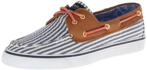 Sperry Top Sider Bahama Navy Seersucker Bootsschuhe Segelschuhe Sneaker Damen (8,5 M, Blau) Sperry Topsider Bahama