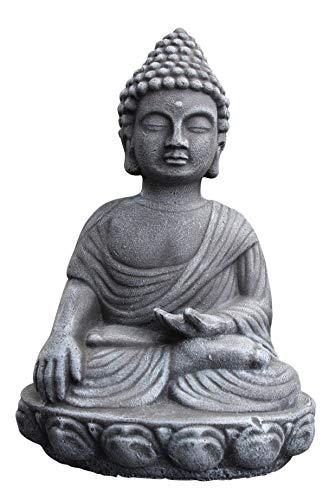 Buddha Figur , Deko Statue frostsicher und wetterbeständig für Haus und Garten, Steinfigur hergestellt in Deutschland