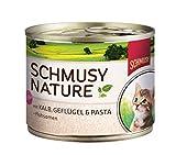 Schmusy Katzenfutter für Kitten Kalb & Geflügel 190 g, 12er Pack (12 x 190 g)