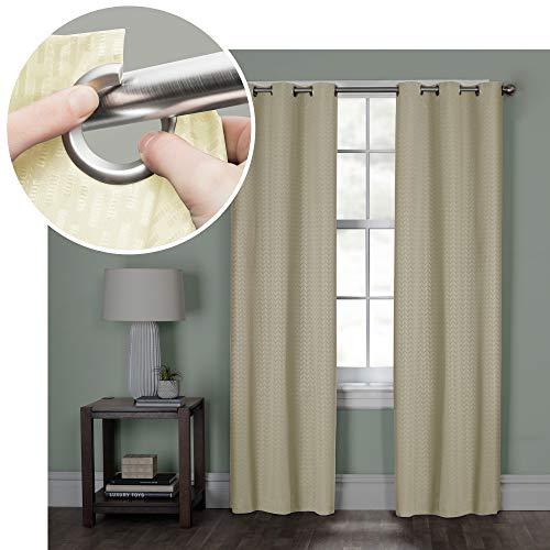 MAYTEX Larson Easy Hang Window Curtain Panel 40 inches x 84 inches Cream - Hang-panels