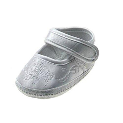Baby Taufe Schuhe für Jungen oder Mädchen–Zarte Satin Beute oder Schuhe für besondere Anlässe in Größen 0–12M White Special Day Shoe