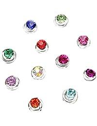 Espirales de adorno para el pelo, espirales con brillantes de colores, para bodas o comuniones