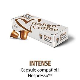 100 Capsule compostabili Biologico Italian Coffee compatibili Nespresso