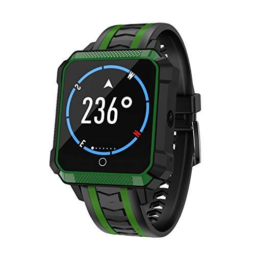 ZLOPV Intelligente Uhr 4G Netzwerk Android Smartwatch Mit Kamera Herzfrequenzmesser WiFi GPS Kompass SIM Smart Watch Telefon IP68 Wasserdicht Sport Männer, Rot