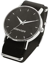 Wize & Ope HO-2 - Reloj analógico de cuarzo unisex, correa de sintético color negro