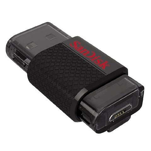 Clé USB 2.0 à double connectique SanDisk Ultra 64Go (SDDD-064G-G46)