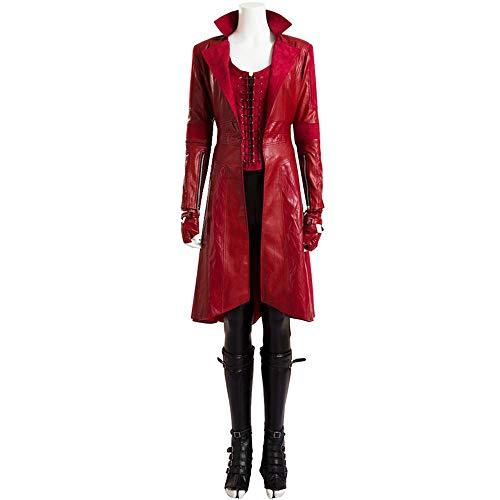 Scarlet Kostüm - Marvel Scarlet Witch COS Kleidung Mit Dem Gleichen Absatz Umhang Umhang Full Cosplay Kleidung Damenbekleidung Full Set-M