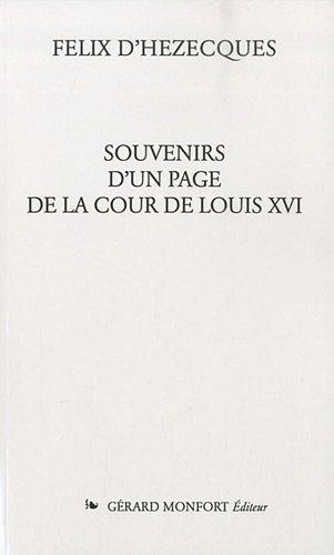 Souvenirs d'un page de la cour de Louis XVI