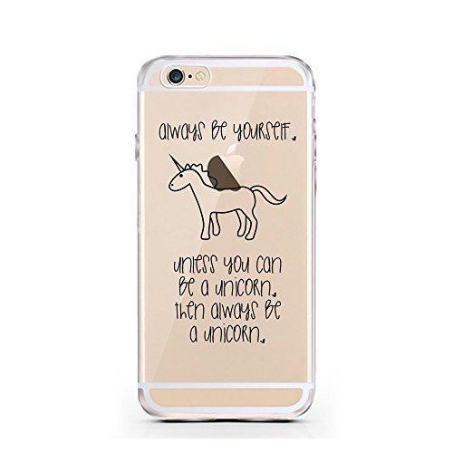 iPhone 5 5S SE Hülle von licaso® für das Apple iPhone 5SE aus TPU Silikon Apfel Apple-Juice Saft-Tüte Apfel-Saft Muster ultra-dünn schützt Dein iPhone 6 & ist stylisch Schutzhülle Bumper in einem (iPh Be a Unicorn