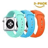 YaYuu Für Apple Watch Armband 38mm 42mm, weich Silikon Ersatz Sport iWatch Armbändern für Apple...
