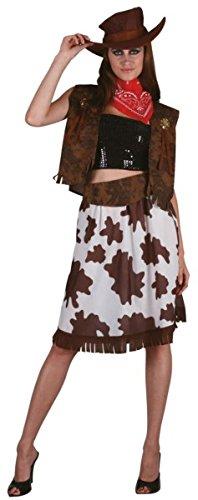 P 'tit Clown re89129–Kostüm Erwachsene Damen Luxe Cow Girl, Größe (Girl Clown Kostüme Erwachsene Für)