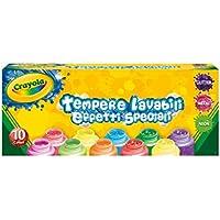 Crayola 3937 - 10 Tempere Lavabili, Effetti Speciali, Multicolore