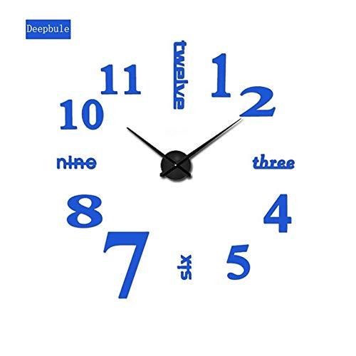 KASNWQ [Orologio da Parete Oversize Fai da Te in Acrilico Specchio in Metallo Eva Grande personalità Orologio Digitale Clock47 Pollici F