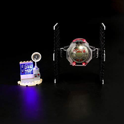 LIGHTAILING Conjunto de Luces (Star Wars Ataque del Caza Tie) Modelo de Construcción de Bloques - Kit de luz LED Compatible con Lego 75237 (NO Incluido en el Modelo)