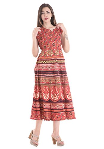 Attire Fashions Pure Cotton Designer Women Midi Dress Free Size ( Assorted Designs )