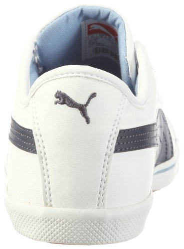 Puma Benecio Jr 351674, Sneaker unisex bambino Bianco (Weiss (white-new navy-forever blue 13))