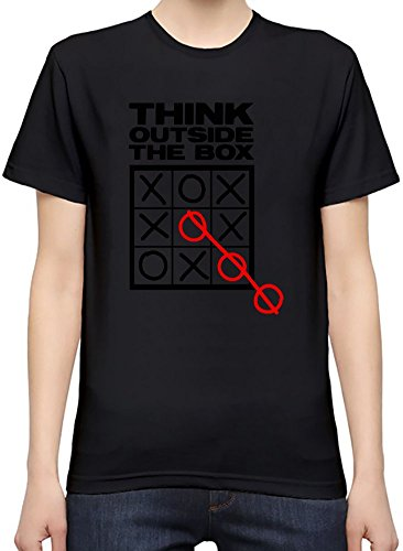 Think Outside The Box Women's Personalized T-Shirt| Custom -Printed Tee| 100% Superior Quality Soft Cotton| Premium Quality DTG Printing| Unique Clothing For Women By Byronz Clothing