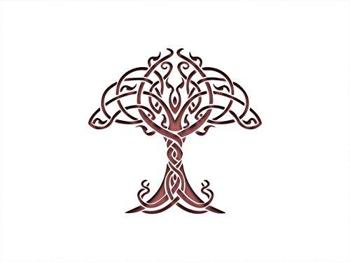 PixieBitz Nordischen Keltisch Knoten Baum, Schablone inspiriert–30,5x 20,3cm–190Mu Mylar A, Airbrush, Craft, Grafitti