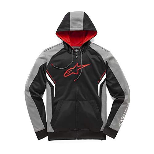 Alpinestars maglione con cerniera taglio moderno ispirazione motorsport Hoodie, Uomo, Strike Fleece Charcoal, XL