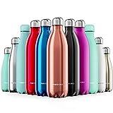 Proworks Bottiglia Acqua in Acciaio Inox, Senza BPA Vuoto Isolato Borraccia Termica in Metallo per Bevande Calde per 12 Ore & Fredde 24 Ore, Borraccia per Sport, Lavoro e Palestra - 1000ml - Rame