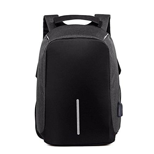 UNIQUEBELLA Rucksack Damen Herren Business Laptop Rucksack Diebstahlschutz Casual Daypacks für 15 Zoll Notebook mit USB-Ladeanschluss geeignet für Reisen Schule Arbeit Outdoor Backpack- Schwarz (Bella-laptop-tasche)