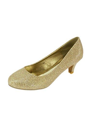 Chaussures de cérémonie soirée escarpin femme talon 6cm - PRODUIT STOCKÉ ET EXPÉDIÉ RAPIDEMENT DEPUIS LA FRANCE Or