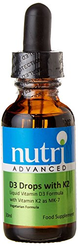 nutri ADVANCED D3 Drops With K2 30ml (Pack of 4)